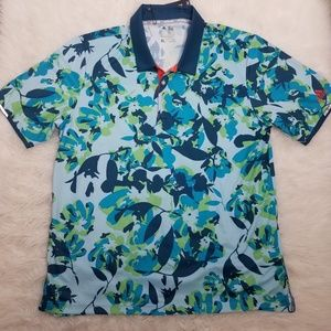Adidas Clima Chill Polo Shirt Sz XL Green A8
